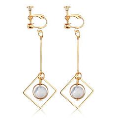 여성용 클립 귀걸이 보석류 패션 개인 합금 Geometric Shape 보석류 제품 일상 캐쥬얼