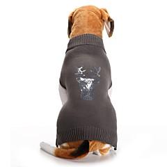 お買い得  犬用ウェア&アクセサリー-ネコ 犬 コート セーター 犬用ウェア トナカイ グレー スパンデックス コットン/リネン混 コスチューム ペット用 パーティー カジュアル/普段着 コスプレ 保温 結婚式 新年 クリスマス ハロウィーン