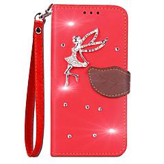 Etui Käyttötarkoitus Huawei Honor 9 Lomapkko Korttikotelo Paljetti Tuella Flip Kokonaan peittävä Yhtenäinen väri Kova PU-nahka varten