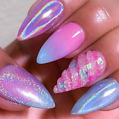 1g sateenkaaren galaksi pigmentti kynsien glitter jauhe 3d kromi holografinen nail art jauhe