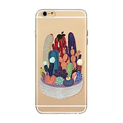 Недорогие Кейсы для iPhone 4s / 4-Кейс для Назначение Apple iPhone X iPhone 8 Прозрачный С узором Кейс на заднюю панель дерево Мягкий ТПУ для iPhone X iPhone 8 Pluss