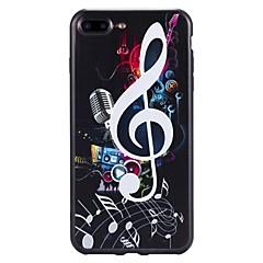 Käyttötarkoitus iPhone 7 iPhone 7 Plus kotelot kuoret Kuvio Takakuori Etui Sana / lause Pehmeä TPU varten Apple iPhone 7 Plus iPhone 7