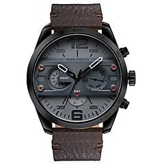Men's Women's Military Watch Fashion Watch Wrist watch Japanese Quartz Calendar Chronograph Water Resistant / Water Proof Dual Time Zones