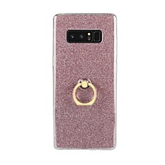billige Galaxy Note 4 Etuier-Etui Til Samsung Galaxy Note 8 Note 5 Ringholder Bagcover Glitterskin Blødt TPU for Note 8 Note 5 Note 4 Note 3