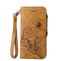 Недорогие Чехлы и кейсы для Nokia-Кейс для Назначение Nokia Lumia 630 Nokia Lumia 640 Nokia Бумажник для карт Кошелек со стендом Флип Рельефный Чехол Цветы Твердый Кожа PU