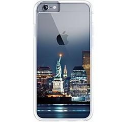 Para iPhone 7 iPhone 7 Plus Case Tampa Ultra-Fina Transparente Estampada Capa Traseira Capinha Vista da cidade Macia PUT para Apple