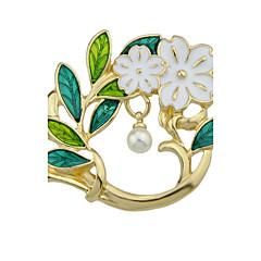 お買い得  ブローチ-女性用 ブローチ  -  真珠 リーフ, フラワー ファッション, かわいいスタイル ブローチ ゴールド 用途 日常 / カジュアル