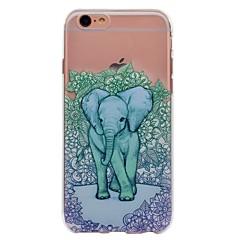 Назначение iPhone X iPhone 8 Чехлы панели С узором Задняя крышка Кейс для Животное Слон Цветы Мягкий Термопластик для Apple iPhone X