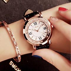 preiswerte Damenuhren-Damen Quartz Armbanduhr Chinesisch PU Band Luxus / Glanz / Retro / Freizeit / Elegant / Modisch Schwarz / Weiß / Blau / Rosa