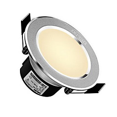 delixi® 1pc 5w οδήγησε κάτω φως φως φως ζεστό λευκό / λευκό τρύπα μεγέθους ac220v 90mm 300lm γωνία δέσμης 3000 / 6000k 120