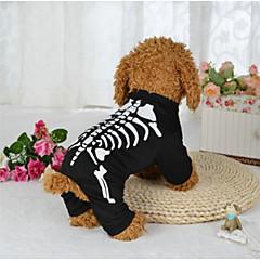 tanie Ubranka i akcesoria dla psów-Pies Kostiumy Ubrania dla psów Halloween Czaszki Black Kostium Dla zwierząt domowych