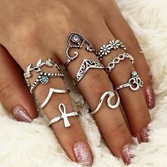 preiswerte Ringe-Damen Kristall Geometrisch Ring - Krystall, Aleación Blattform, Welle Geometrisch, Kreuz Eine Größe Silber Für Normal Formal