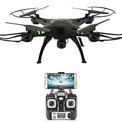 voordelige quadcopter-RC Drone FLYRC X53 4-kanaals 6 AS 2.4G Met HD-camera 1.0MP 1080P*720P RC quadcopter WIFI FPV Hoogte Holding Terugkeer Via 1 Toets