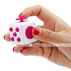 άσπρο fidget κύβος δάχτυλο χέρι κορυφή μαγεία συμπίεση παζλ κύβος δουλειά τάξη σπίτι edc προσθέστε adhd anti άγχος reliever άγχος 1pc