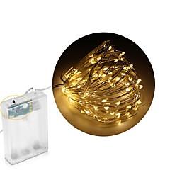 preiswerte LED Lichtstreifen-Leuchtgirlanden 100 LEDs Warmes Weiß Weiß Mehrfarbig Blau DC 4,5 V DC4.5