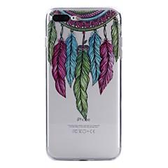 お買い得  iPhone 5S/SE ケース-ケース 用途 Apple iPhone X / iPhone 8 パターン バックカバー ドリームキャッチャー / 羽毛 ソフト TPU のために iPhone X / iPhone 8 Plus / iPhone 8