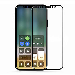 Недорогие Защитные пленки для iPhone X-Защитная плёнка для экрана для Apple iPhone X Закаленное стекло 1 ед. Защитная пленка для экрана HD / Уровень защиты 9H / Против отпечатков пальцев