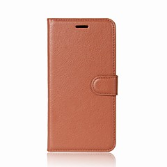 For Case Cover Card Holder Wallet with Stand Flip Full Body Case Solid Color Hard PU Leather for Huawei Huawei P9 Lite Huawei Honor 8 Pro
