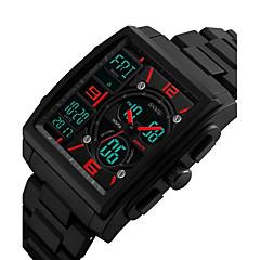 tanie -Męskie Zegarek cyfrowy Sportowy Wojskowy Zegarek na nadgarstek Japoński Kwarcowy Kalendarz Chronograf Wodoszczelny LED Dwie strefy