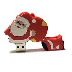 16gb weihnachten usb flash fahrzeug karikatur kreativ sankt klaus weihnachtsgeschenk usb 2.0