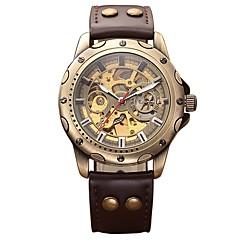 Męskie DZIECIĘCE Wojskowy Szkieletowy zegarek mechaniczny Japoński Nakręcanie automatyczne Kalendarz Chronograf Wodoszczelny Grawerowane