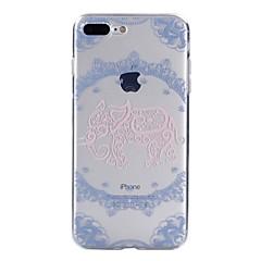 Недорогие Кейсы для iPhone X-Кейс для Назначение Apple iPhone X iPhone 8 С узором Кейс на заднюю панель Слон Кружева Печать Мягкий ТПУ для iPhone X iPhone 8 Pluss