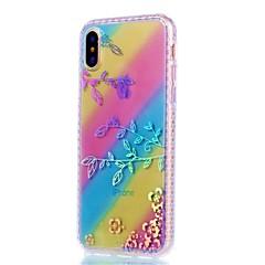 Назначение iPhone X iPhone 8 iPhone 8 Plus Чехлы панели Покрытие Задняя крышка Кейс для Цветы Мягкий Термопластик для Apple iPhone X