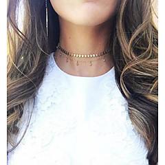 お買い得  ネックレス-女性用 クリスタル チョーカー  -  タッセル, エレガント ゴールド ネックレス 用途 日常, カジュアル, パーティー