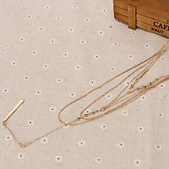 Жен. Ожерелья с подвесками Бижутерия Искусственный бриллиант Сплав Базовый дизайн По заказу покупателя Бижутерия Назначение Для вечеринок