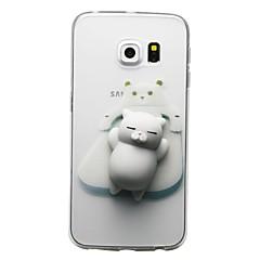 hoesje Voor Samsung Galaxy S8 Plus S8 Transparant Patroon DHZ squishy Achterkantje Kat 3D Cartoon Zacht TPU voor S8 S8 Plus S7 edge S7 S6