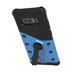 Недорогие Чехлы и кейсы для Galaxy Note 5-Кейс для Назначение SSamsung Galaxy Note 8 Note 5 Защита от удара со стендом Поворот на 360° Кейс на заднюю панель броня Твердый ТПУ для