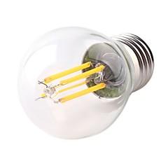 お買い得  LED 電球-1個 4W 360lm E26 / E27 フィラメントタイプLED電球 G45 4 LEDビーズ COB 調光可能 装飾用 LEDライト 温白色 220-240V