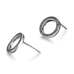 preiswerte Ohrringe-Damen Ohrstecker - Sterling Silber Simple Style Schwarz und Silbern Für Ausgehen Valentinstag