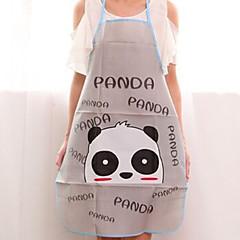 billige Køkkenrengøringsmidler-høj kvalitet panda mønster sød grå køkken badeværelse bil forklæde, pvc