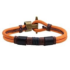 preiswerte Armbänder-Herrn / Damen Lederarmbänder - Leder Anker Retro Armbänder Schwarz / Gelb Für Alltag / Ausgehen