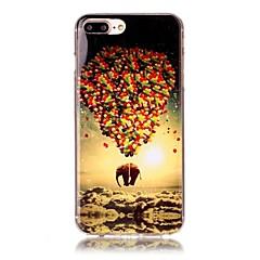Για iPhone X iPhone 8 Θήκες Καλύμματα Με σχέδια Πίσω Κάλυμμα tok Μπαλόνια Ελέφαντας Μαλακή TPU για Apple iPhone X iPhone 8 Plus iPhone 8