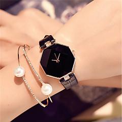 voordelige -Dames Polshorloge Modieus horloge Chinees Kwarts / PU Band Amulet Informeel Elegant Zwart Wit Blauw Rood Paars