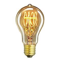 お買い得  LED&照明機器-1個 60W E26/E27 A60(A19) 温白色 2200-2700 K レトロ風 調光可能 装飾用 白熱ビンテージエジソン電球 220-240V