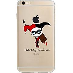 Недорогие Кейсы для iPhone 4s / 4-Кейс для Назначение Apple iPhone 7 Plus iPhone 7 Ультратонкий Прозрачный С узором Кейс на заднюю панель Мультипликация Мягкий ТПУ для