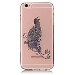 Недорогие Кейсы для iPhone X-Назначение iPhone X iPhone 8 Чехлы панели Ультратонкий Прозрачный С узором Задняя крышка Кейс для Бабочка Мягкий Термопластик для Apple