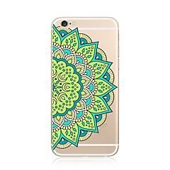 Назначение iPhone 7 iPhone 7 Plus Чехлы панели Прозрачный С узором Задняя крышка Кейс для Мандала Мягкий Термопластик для Apple iPhone 7