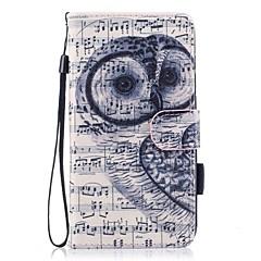 Недорогие Чехлы и кейсы для Huawei серии Y-Кейс для Назначение Huawei P10 Lite Бумажник для карт Кошелек со стендом Флип Магнитный С узором Чехол Сова Твердый Кожа PU для P10 Lite