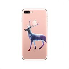 Недорогие Кейсы для iPhone X-Кейс для Назначение Apple iPhone X iPhone 8 iPhone 8 Plus Прозрачный С узором Кейс на заднюю панель Рождество Животное Мягкий ТПУ для