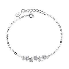 preiswerte Armbänder-Damen Kubikzirkonia Ketten- & Glieder-Armbänder - Sterling Silber Stern Armbänder Silber Für Hochzeit / Party