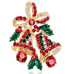お買い得  ブローチ-女性用 合成ダイヤモンド ブローチ  -  フラワー ブローチ ゴールド / シルバー 用途 クリスマス