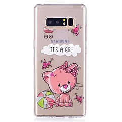 Χαμηλού Κόστους Galaxy Note 4 Θήκες / Καλύμματα-tok Για Εξαιρετικά λεπτή Διαφανής Με σχέδια Πίσω Κάλυμμα Λέξη / Φράση Ζώο Μαλακή TPU για Note 8 Note 5 Edge Note 5 Note 4 Note 3 Lite