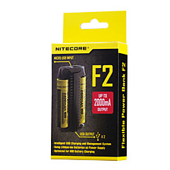 Nitecore F2 Battery Charger for Lithium Battery 10440,14500,16340 (RCR123),17335,17500,17670,18490,18650,26650