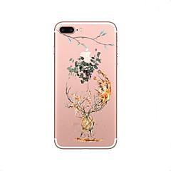 Кейс для Назначение Apple Прозрачный С узором Задняя крышка Животное дерево Рождество Мягкий Термопластик для iPhone X iPhone 8 Plus