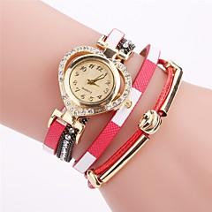 Women's Fashion Watch Simulated Diamond Watch Bracelet Watch Chinese Quartz PU Band Bohemian Elegant Casual Black White Blue Red Brown