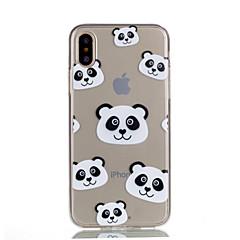 для крышки случая прозрачный тип задняя крышка случая panda мягкая tpu для яблока iphone x iphone 8 плюс iphone 8 iphone 7 плюс iphone 7